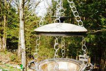 Bird feeders / recycled feeders