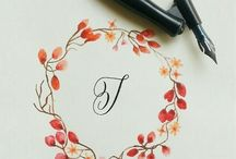 flower handwriting