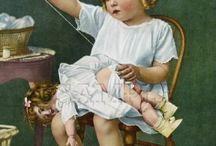 Hecho por mis manos / Fotografía, ilustraciones y lienzos de niños en actividades manuales.