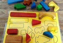 Kreative spiele Farben und Formen