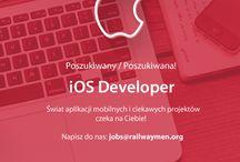 Ogłoszenia / Zapraszamy do współpracy z Railwaymen! iOS developer, Ruby on Rails developer, Frontend Developer