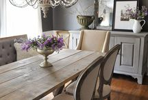 Dining Room / Ideas and inspiration for decorating your dining room.  Tables, paint colors, tablescapes, lighting and more