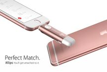 Apple Rose gold iPhone 6S with rose gold Flash Drive, #iKlips / Our hero products, iKlips with the rose gold color is perfectly match with rose gold iPhone6S. Want to know more function? Come and PIN me!