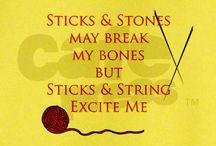 Sticks & Strings / knitting and needle art / by Cathy VanVooren Junga
