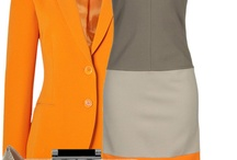 Orange/gray outfit