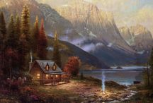Log-cabins...