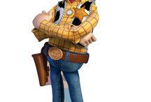 """Pixar challenge / Desk for my personal """"25 pixar's character"""" challenge."""