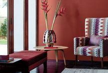 COLOUR | Wall Paints, Textures & Textiles / 1. Wallpapers 2. Painted Walls 3. Textiles 4. Textures 5. Wall cladding - tiles, mosaics etc 6. Colour palettes
