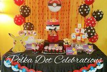 Pokemon Themed Birthday / This board has a lot of pictorial ideas for a pokemon themed birthday. Styled by www.polkadotcelebrations.com