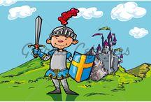 fantasy knights and dragons