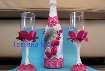 шампанское  / the champagne bottle. / Бутылки шампанского своими руками