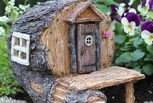 Drevenné domčeky
