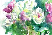 Akvarell virágok