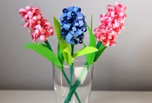 Wiosenne kwiaty / Spring flowers / Kwiaty z papieru i bibuły