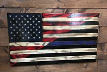 Split Flags Series - Handmade Wood Flags