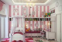 Girls bedroom ideas / Little girl bedroom ideas