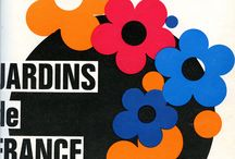 Jardins de France / Créée en 1947, Jardins de France (http://www.jardinsdefrance.org/) est la revue de la Société Nationale d'Horticulture de France. Ce tableau nous plonge en cette belle année 68 aux couvs pop.