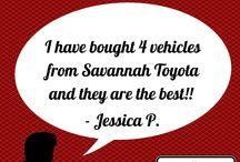 Customer Testimonials / Savannah Toyota serving Savannah, Richmond Hill, Pooler, Hinesville Georgia; Beaufort, Hilton Head Island, South Carolina. Visit http://www.savannahtoyota.com/