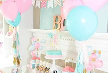 Pink and blue theme baby shower