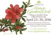 """Historic Garden Week 2016 / Each spring visitors are welcomed to over 250 of Virginia's most beautiful gardens, homes and historic landmarks during """"America's Largest Open House."""" This 8-day statewide event provides visitors a unique opportunity to see unforgettable gardens at the peak of Virginia's springtime color, as well as beautiful houses sparkling with over 2,000 flower arrangements created by Garden Club of Virginia members."""