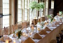 Decoration inspiration / Table settings and decorations for barn weddings