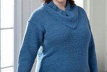 Plus Size Knitting Patterns / Patterns for sizes 14 and up.