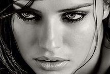 Beautiful woman black&white