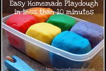 homemade playdough kid
