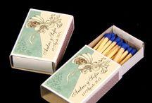 Cajas de Cerillas para Bodas / Cajas de cerillas personalizables para bodas