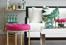 Fun Pops of Color in Spaces
