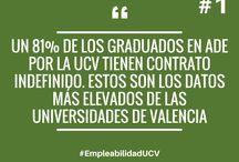 75 razones para estudiar en la UCV / #EmpleabilidadUCV #FuturoUCV #CompromisoUCV #CercaníaUCV #Grados y #PostgradosUCV
