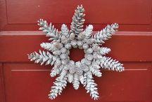 adventi, karácsonyi dekorációk természetes anyagokból / DIY ötletek-adventi asztalközép, adventi koszorú, adventi asztaldísz, karácsonyi koszorú, karácsonyi kopogtató