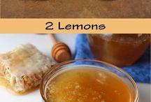 Lemon, honey weight lodd drink.