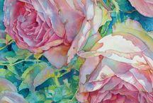 цветы в. акварели