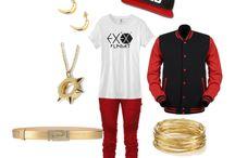 Exo style / felpe, magliette, accessori, scarpe, pantaloni, vestiti, jeans