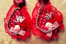 Mellifleurs earrings handmade