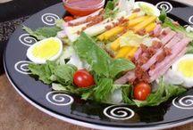 Salads / A nice variety of tasty salads.