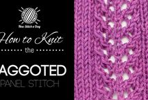 How to knit the......