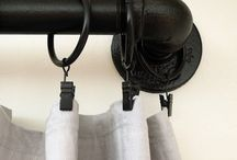 Pipe fitting curtain rod