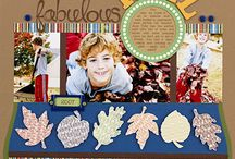 Digital Scrapbooking: Fall Layouts