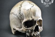 Bigger Than Live Size Hand Carved Human Skull Jawless Realistic Oddities From Wood