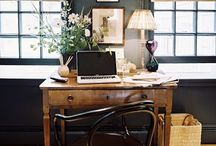 Home offices and workspaces / Home offices, workspace interiors ideas and artist's studios with inspiring desks and moodboards.