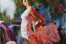 Artists Michael (Mikhail) and Inessa Garmash