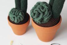 piante e fiori crochet / lavori artistici all'uncinetto