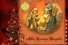 Karácsonyi üdvözlet / Karácsonyi képeslap, jókívánság