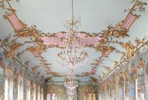 Pink and Green Rococo Bedroom