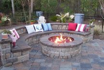 outdoor fire space