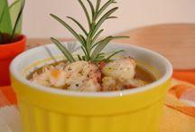 zuppa di cereali e legumi con polpo