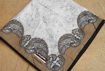 Lancel Paris Paisley Pattern Cotton Handkerchiefs Authentic Vintage by DesignerPride on Etsy