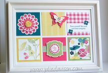 STAMPIN UP FRAMED PROJECT IDEAS